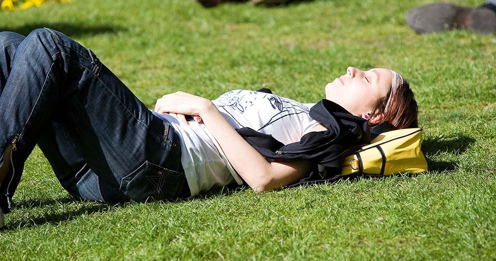 Sunbathing In Ireland during Summer