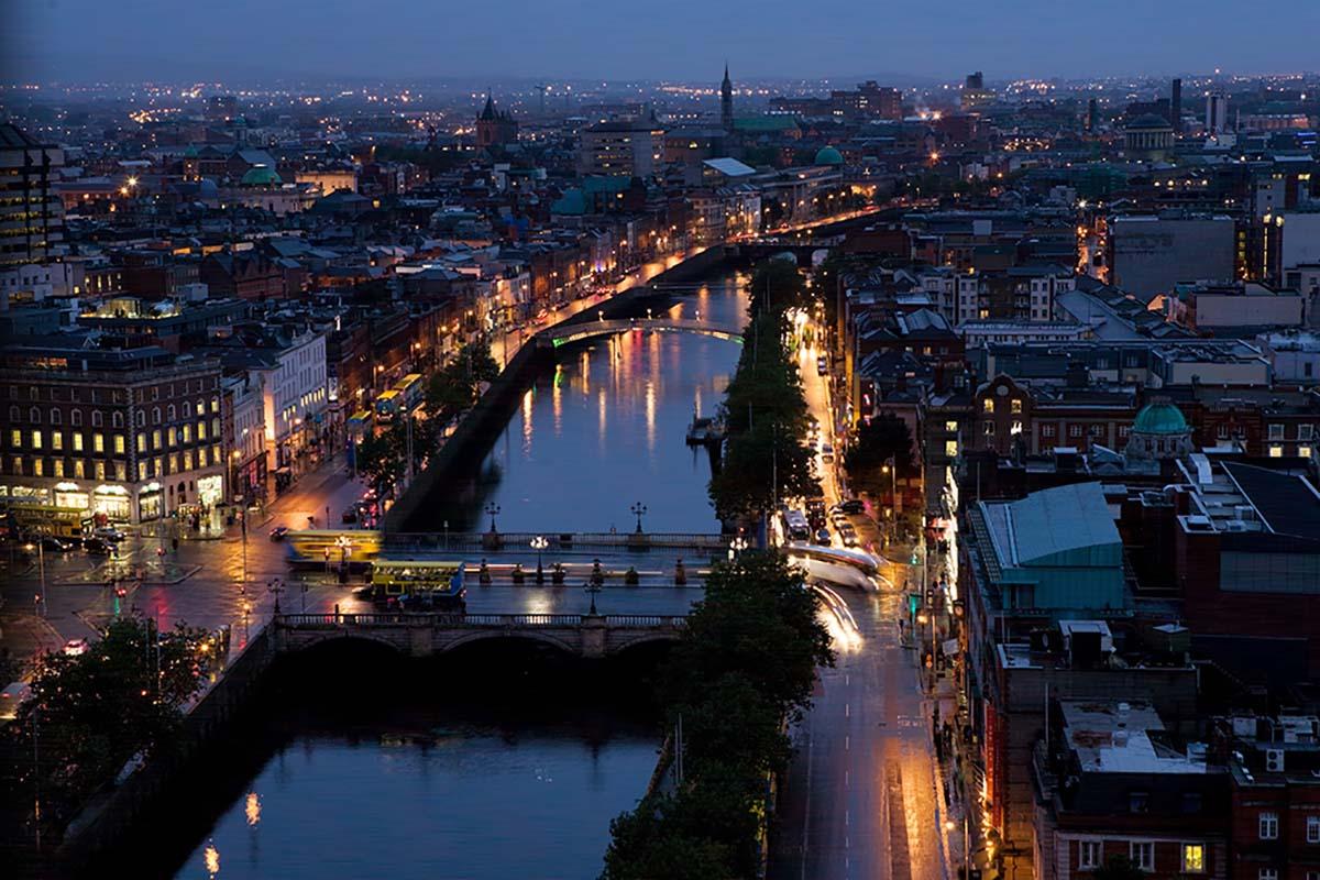 Ariel View of Dublin