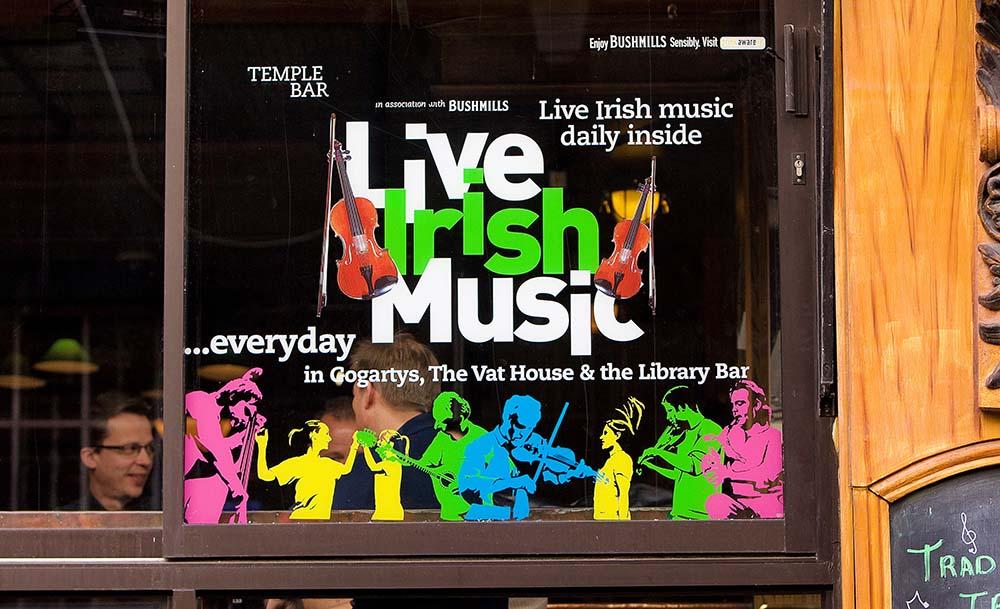 Live Irish Music Sign