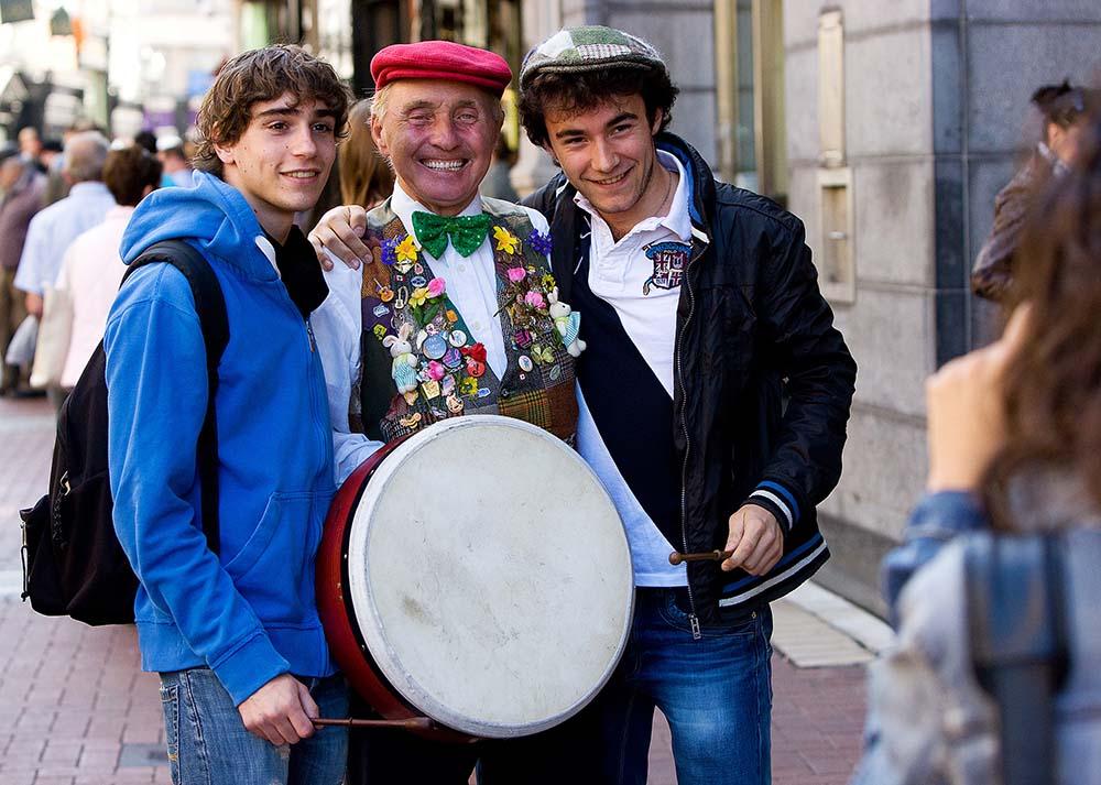 Playing the Bodhran Dublin Ireland